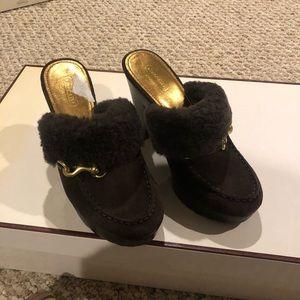 Brown suede shoes Coach